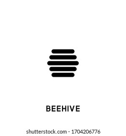 beehive vector icon. beehive black sign on white background. beehive icon for web and app