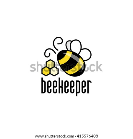Beekeeping Logo Template Honey Labels And Food Sweet Insect Cell