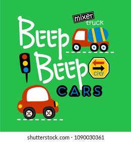 beep beep cars design, vector illustration
