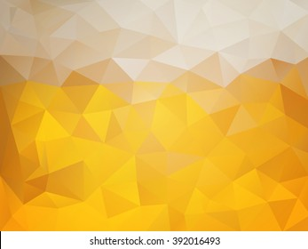 Beer abstract background - yellow mosaic polygonal brewing background