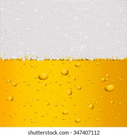 Beer background with drops. Vector illustration