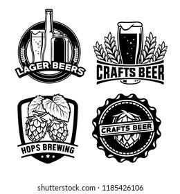 beer badge design set