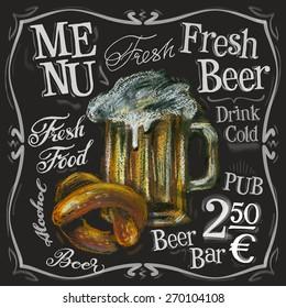 beer bar vector logo design template. alcoholic drink or menu board icon.