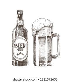 Drawing Beer Images Stock Photos Vectors Shutterstock