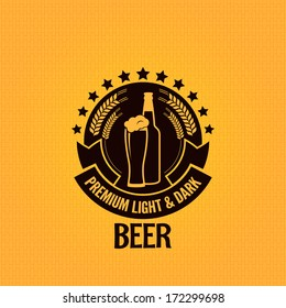 beer bottle glass vintage background