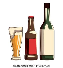 Beer Bottle Cartoon Images, Stock Photos & Vectors