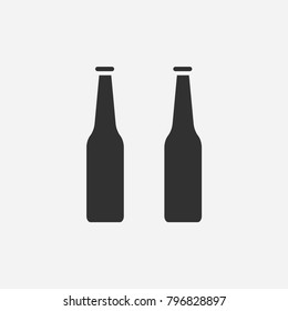 Beer bottle icon illustration isolated vector sign symbol