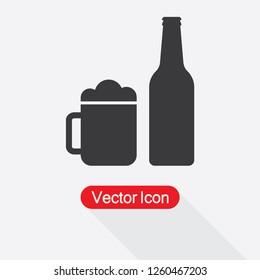 Beer Bottle Icon Vector Illustration Eps10