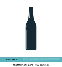 Beer Bottle Icon Vector Logo Template