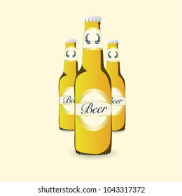 Beer bottle, Vector Illustration