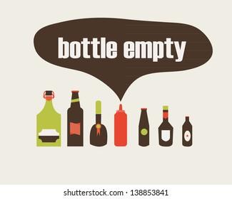 Beer bottles vector collection