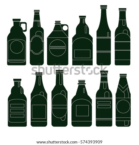 beer bottles vector collection bar seamless stock vector royalty