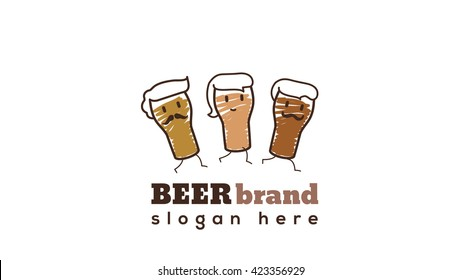 knight vector logo template brewery label stock vector royalty free