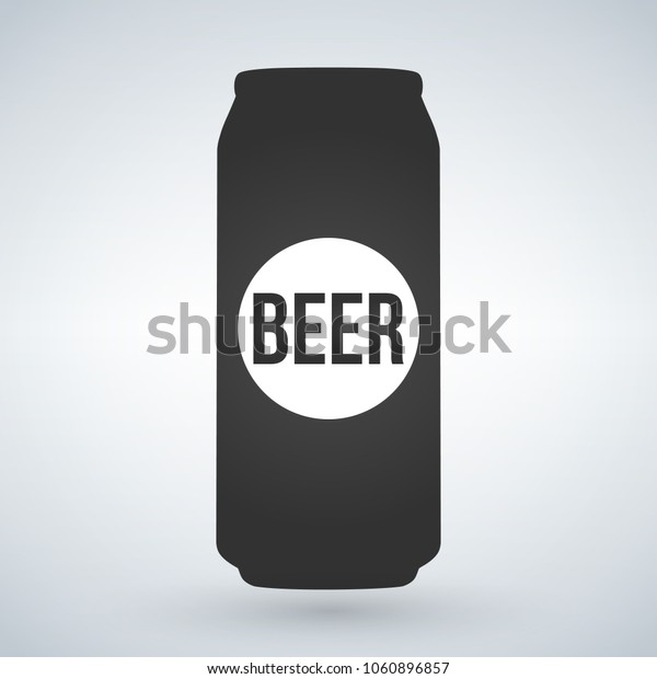 Beer can icon on light background. Vector isolated Illustration.