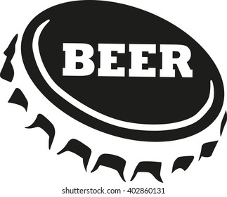 Beer cap with beer word