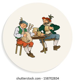 Beer Coaster Design - Beverage and Music in the Middle Ages - Layered File