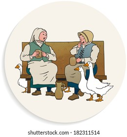 Beer Coaster Vector Illustration - Beverage And Leisure In The Middle Ages