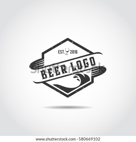 Beer Craft Logo Template Vector Illustrator Stock Vector Royalty
