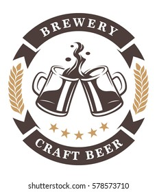 beer cups logo. Text is on the separate layer.