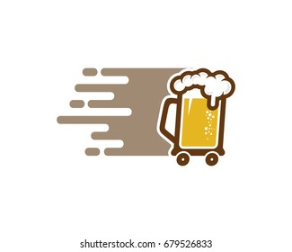 Beer Delivery Icon Logo Design Element
