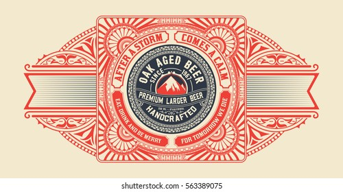 Beer design for label and packaging