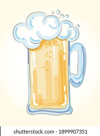 Beer Doodle Hand Drawn vector Illustration Isolated