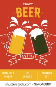 Beer festival, event poster