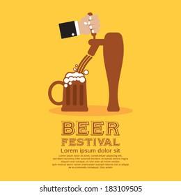 Beer Festival Vector Illustration