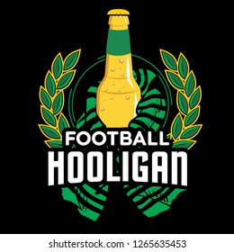 beer and football hooligan, vector