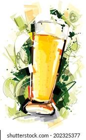 Beer Glass Art