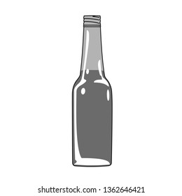Beer glass bottle icon