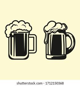 Beer Glass Set Vector Design