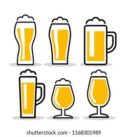 Beer glass. vector illustration