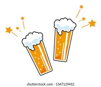 beer glass vector illustration