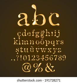 Beer, Honey and Caramel Alphabet Lower Case