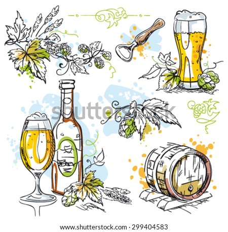 Beer Hops Vector Decoration Isolated On Stock Vector Royalty Free