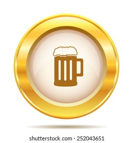 Beer icon. Internet button on white background. EPS10 vector.