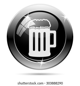 Beer icon. Internet button on white background. EPS10 vector