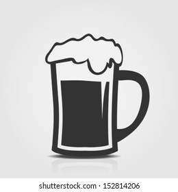 Beer icon isolated on a white background