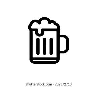 Beer Icon Isolated Beer Symbol Vector Design Illustration Eps 10