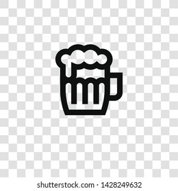 beer icon from miscellaneous collection for mobile concept and web apps icon. Transparent outline, thin line beer icon for website design and mobile, app development