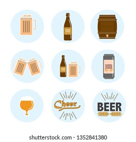Beer icon set for beer lovers