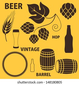 Beer. Icon set. Vector illustration