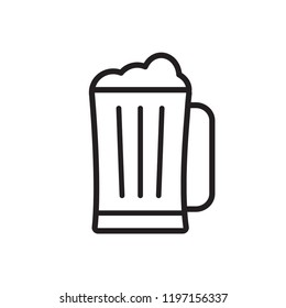 beer icon in trendy flat design