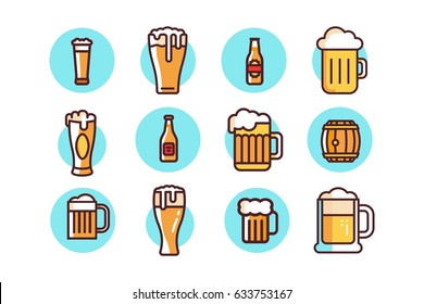 Beer Icons in Vector Graphics