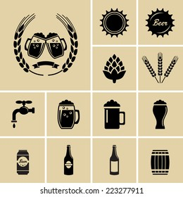 Beer Icons. Vector for web