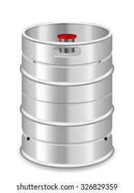 Beer keg on a white background.
