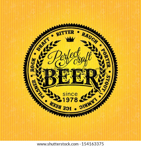 beer label design template stock vector royalty free 154163375