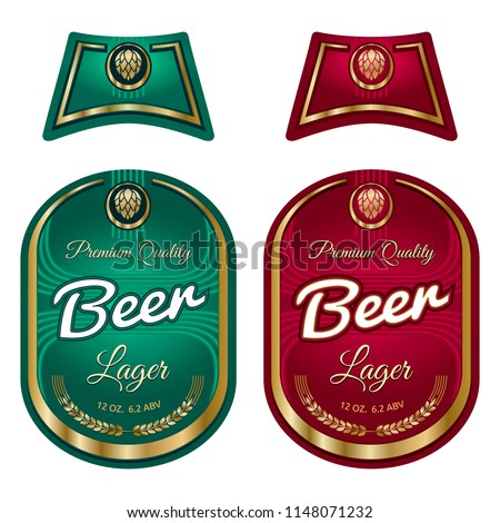 Beer Label Template Neck Label Vector Stock Vector Royalty Free