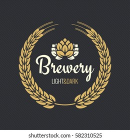 Beer Label Vintage Design Background